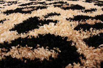 Teppich Hochflor Shaggy Leopard Muster Beige Schwarz – Bild 5