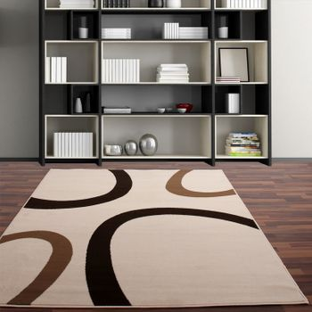 Contemporary Rug - Cream