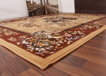 Klassicher Orient Teppich Muster Beige – Bild 2