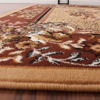Klassicher Orient Teppich Muster Beige – Bild 3
