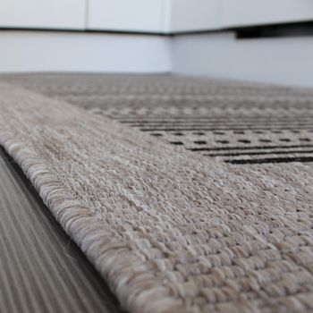 Sisal Effect Rug - Natural Look - Grey Black – Bild 3