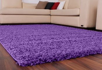 Shaggy High-Pile Rug Plain Violet Purple TOP PRICE NEW* – Bild 3