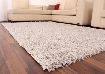 Shaggy High-Pile Rug Plain Grey and Silver TOP PRICE NEW* – Bild 3