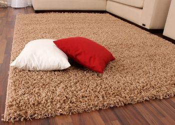 Shaggy High-Pile Rug Plain Light Beige TOP PRICE NEW* – Bild 1