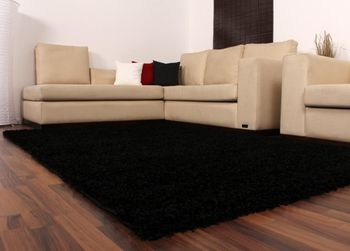 Shaggy High-Pile Rug Plain Black TOP PRICE NEW* – Bild 4