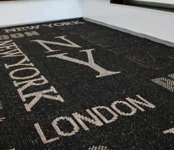 Sisal Effect Rug - Urban - London - New York - Graphite – Bild 4