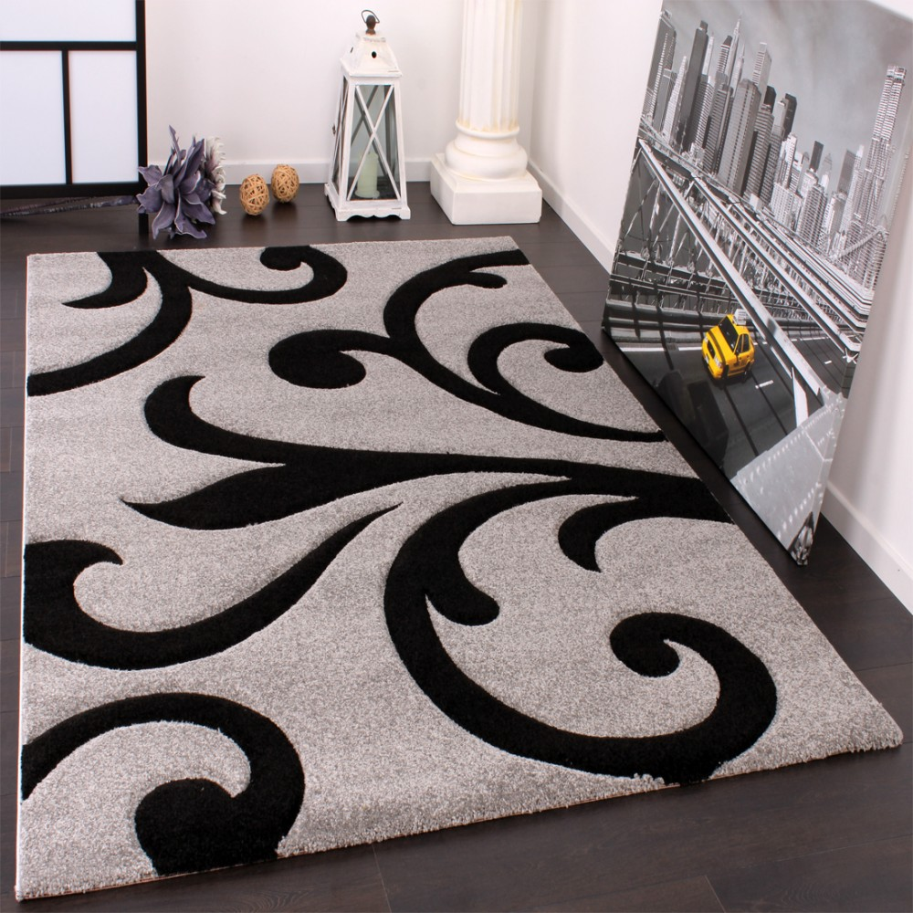 Designer Carpet Contour Cuts Grey 001