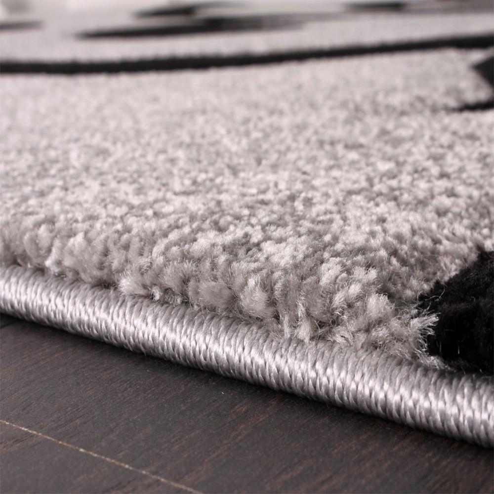 Designer teppich grau schwarz design teppiche - Teppich modern grau ...
