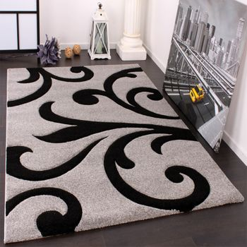 Designer Carpet Contour Cuts Grey