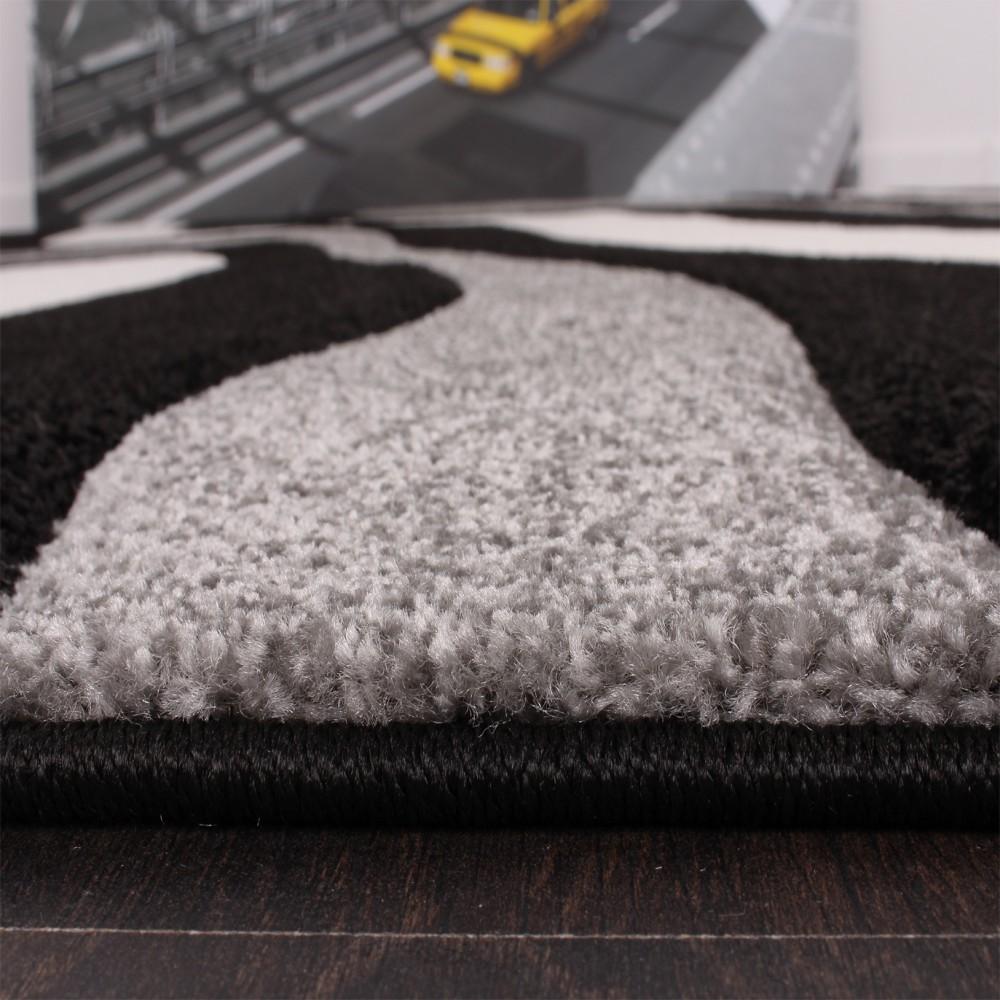 designer teppich schwarz grau teppichcenter24. Black Bedroom Furniture Sets. Home Design Ideas