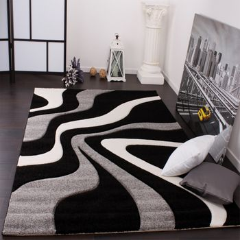 Designer Carpet Contour Cut Black