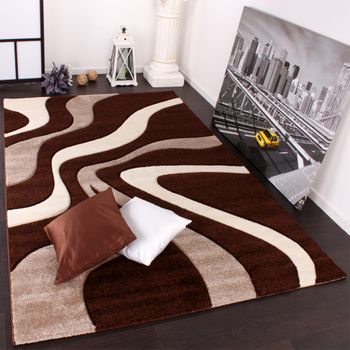 Designer Carpet Contour Cut Brown