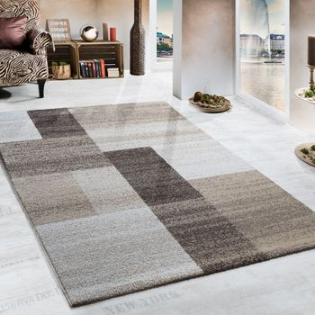 Woven Rug - Heavy - Beige Brown Cream – Bild 1