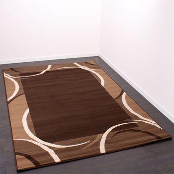 Moderner Teppich Beige Braun