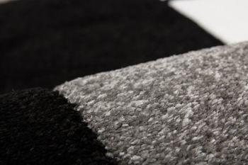 Designer Rug - Contemporary - Velour - Black Grey – Bild 4