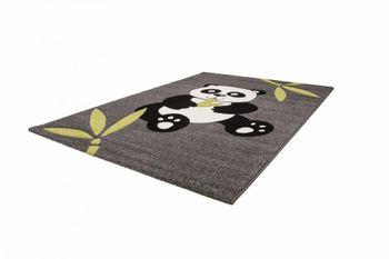 Moderner Kinderteppich Panda Bär Grau Schwarz – Bild 6