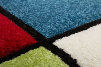 Kids' Rug - Contemporary - Multicoloured - Red Blue Green – Bild 3