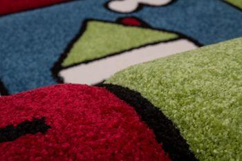 Moderner Kinderteppich Multicolour Rot Blau Grün – Bild 4