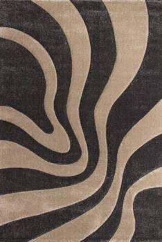 Designer Teppich Festival mit Konturenschnitt Muster Platin Anthrazit Beige – Bild 5