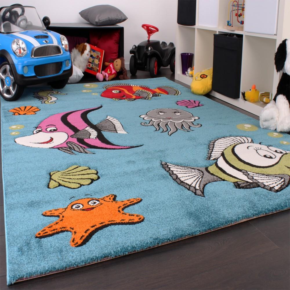 kinderteppich clown fisch kinder teppiche. Black Bedroom Furniture Sets. Home Design Ideas