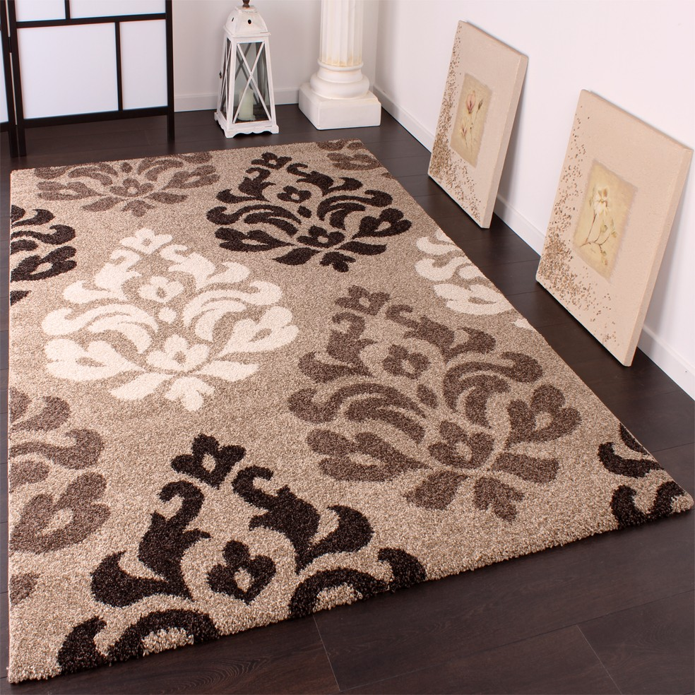 tapis g ant lourd tiss style ancien el gant ton beige marron cr me 240x340 cm tapis tapis poil ras. Black Bedroom Furniture Sets. Home Design Ideas