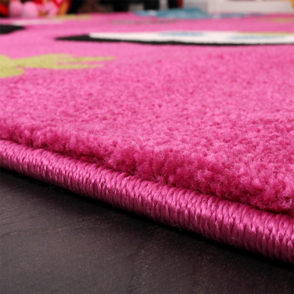 Kinderteppich Schmetterling Pink Kinder Teppiche
