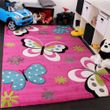Enfants Tapis Papillon Rose 001