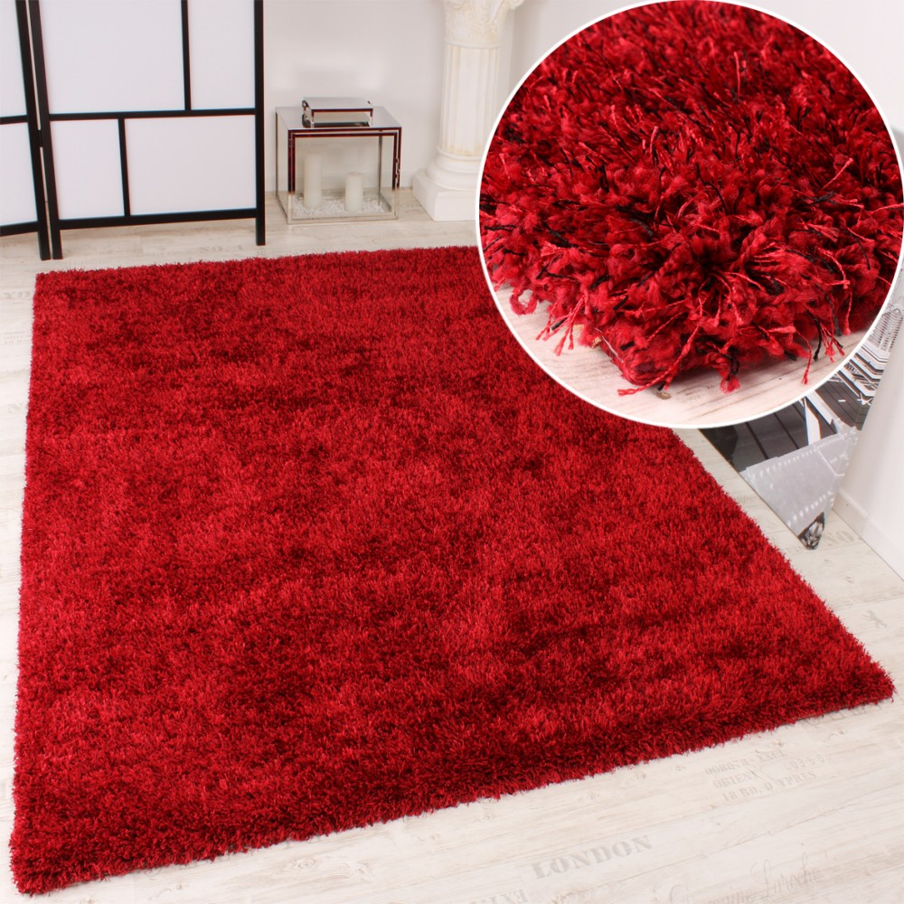 Shaggy Carpet High Pile Long Pile High Quality Yet Affordable In Red