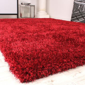 Shaggy Carpet High Pile Long Pile High Quality Yet Affordable In Red – Bild 2