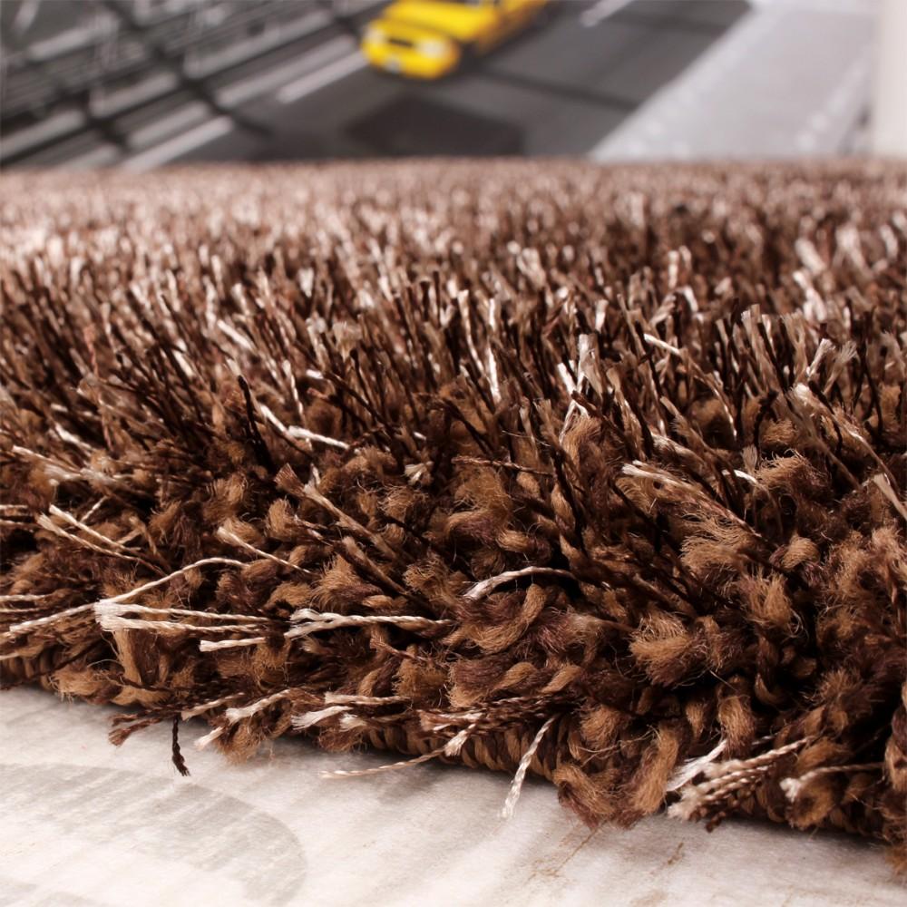 shaggy teppich hochflor langflor leicht meliert qualitativ u preiswert braun teppiche hochflor. Black Bedroom Furniture Sets. Home Design Ideas