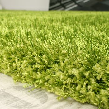Shaggy Carpet High Pile Long Pile High Quality Yet Affordable In Green – Bild 3