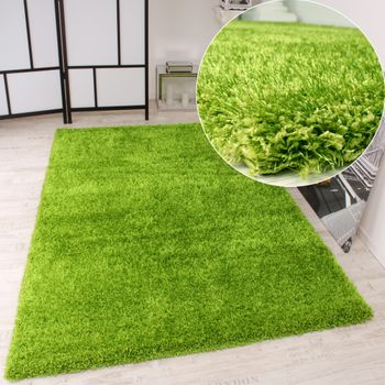 Shaggy Carpet High Pile Long Pile High Quality Yet Affordable In Green – Bild 1