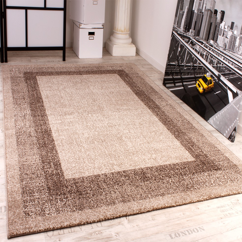 Modern Designer Carpet -Winchester- Modern Rug in Cream Light Beige