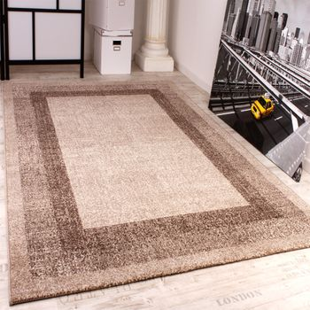 Modern Designer Carpet -Winchester- Modern Rug in Cream Light Beige – Bild 1