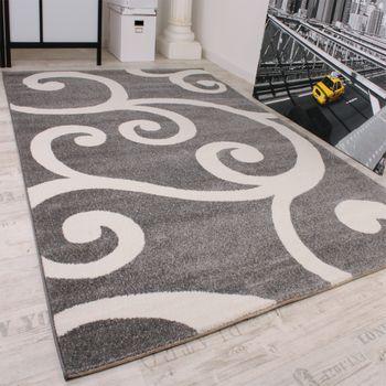 Designer Teppich Muster in Grau Weiss Top Qualität zum Top Preis!! – Bild 2