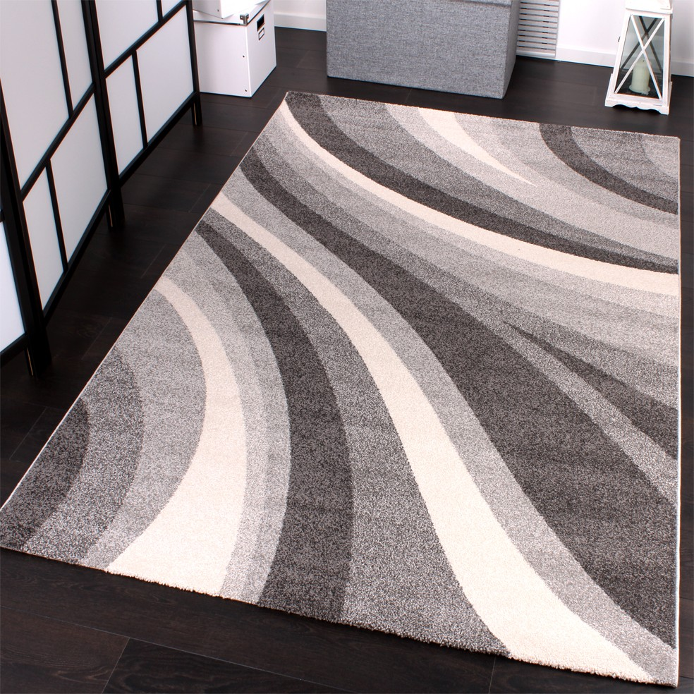 Tappeto moderno di design tappeto winchester in grigio - Offerte tappeti ikea ...