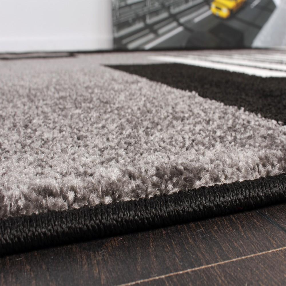 designer teppich karo stil in grau schwarz weiss top qualit t zum top preis ebay. Black Bedroom Furniture Sets. Home Design Ideas
