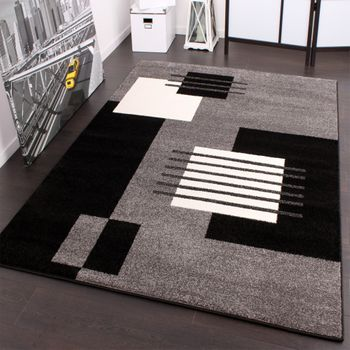 Designer Carpet Chequered Style Grey Black White Top Quality At Top Price – Bild 1
