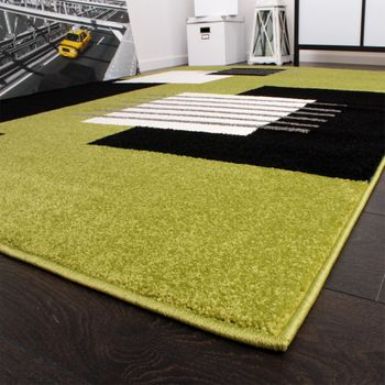 Designer Carpet Modern Chequered Green Black White Top Quality At Top Price – Bild 3