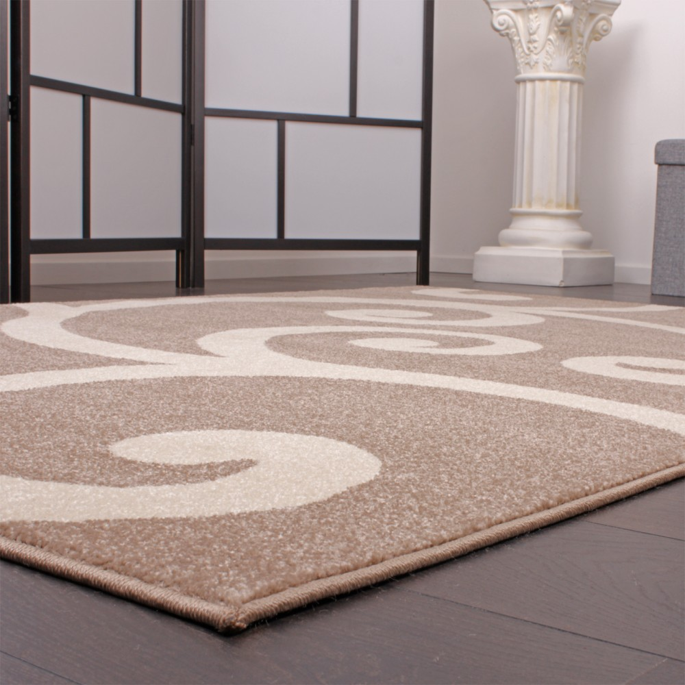 tapis de cr ateur motif en beige super qualit petit prix stock restant. Black Bedroom Furniture Sets. Home Design Ideas