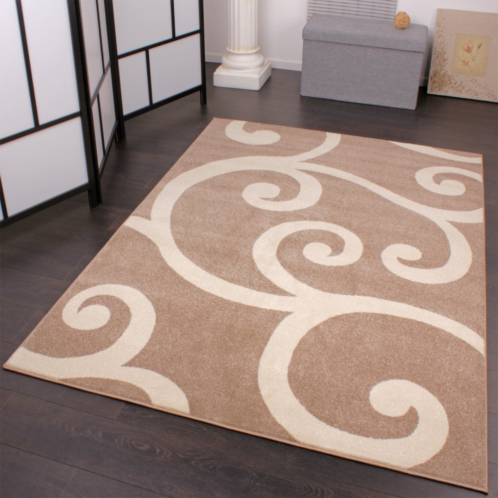 Modern Designer Carpet Beige White Pattern Style Top Quality At Top Price