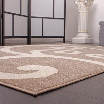 Modern Designer Carpet Beige White Pattern Style Top Quality At Top Price – Bild 2