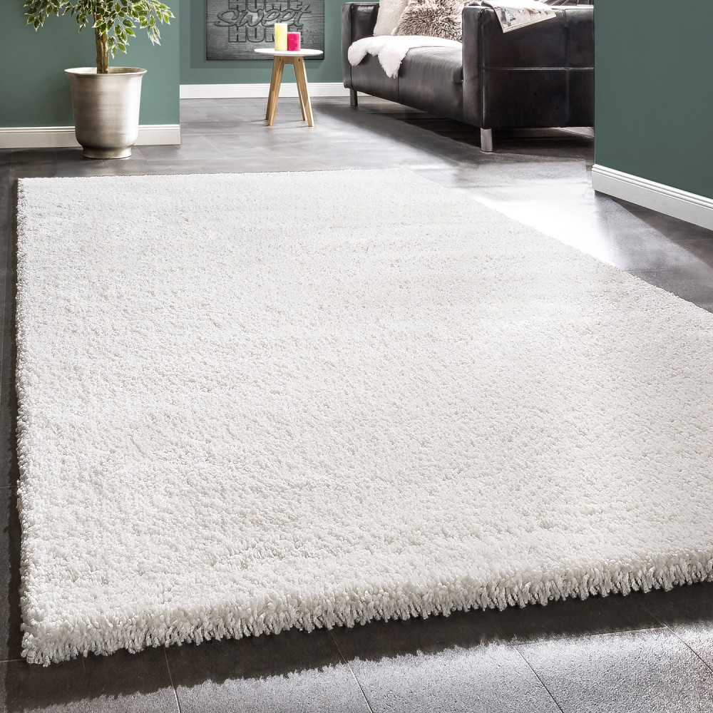 Shaggy Rug / Super Soft High Pile / Rio XXL Carpet / Shaggy Rug in Snow White