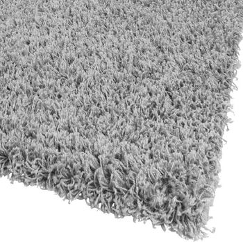 Bedside Runner Rug / 3-Part Carpet Runner Set / Shaggy Carpet in Grey – Bild 6