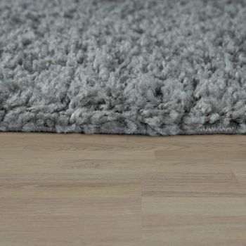Bedside Runner Rug / 3-Part Carpet Runner Set / Shaggy Carpet in Grey – Bild 3