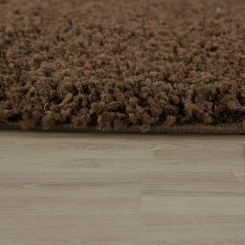 Bedside Runner Rug / 3-Part Carpet Runner Set / Shaggy Carpet in Brown – Bild 4