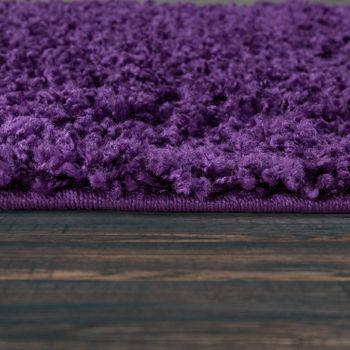 Bedside Runner Rug / 3-Part Carpet Runner Set / Shaggy Carpet in Purple – Bild 3