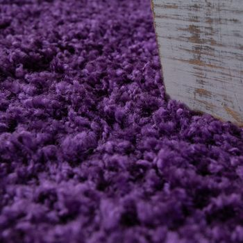 Bedside Runner Rug / 3-Part Carpet Runner Set / Shaggy Carpet in Purple – Bild 4
