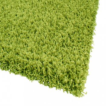 Bedside Runner Rug / 3-Part Carpet Runner Set / Shaggy Carpet in Green – Bild 6