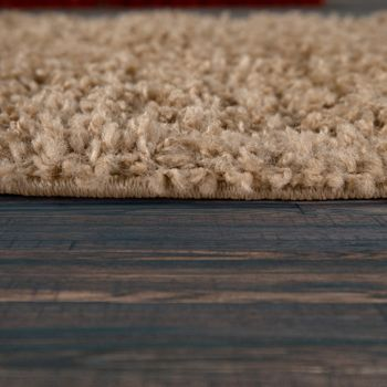 Bedside Runner Rug / 3-Part Carpet Runner Set / Shaggy Carpet in Beige – Bild 4
